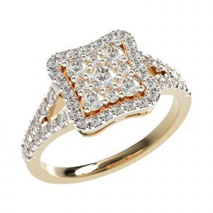 Yellow Gold Stylish Engagement Ring