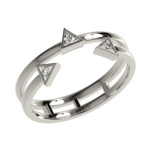 White Gold Triangle Ring
