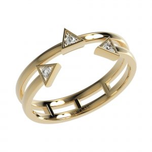Yellow Gold Triangle Ring