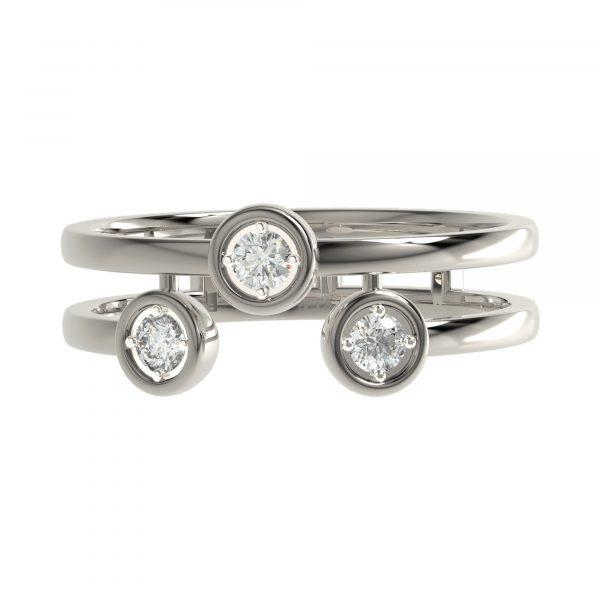 White Gold Round Diamond Ring