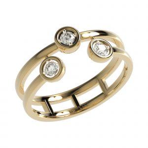 Yellow Gold Round Diamond Ring