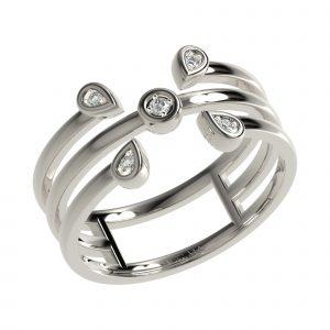 White Gold Elegant Ring