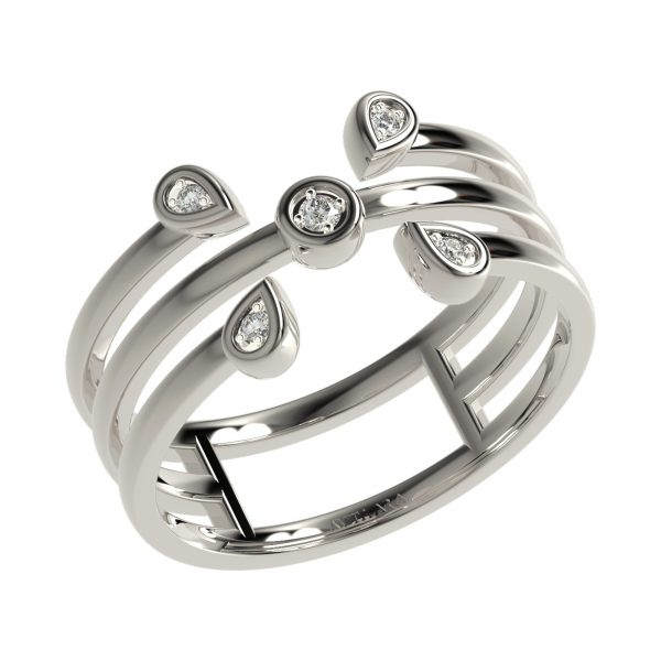 White Gold Elegant Ring