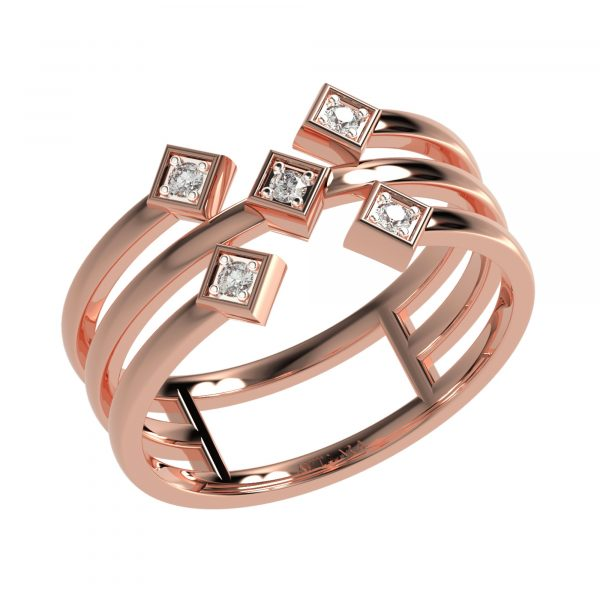 Rose Gold Layered Ring
