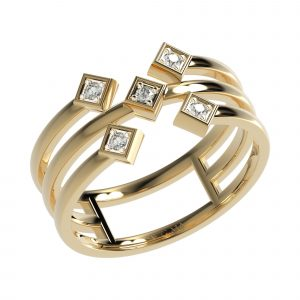Yellow Gold Layered Ring