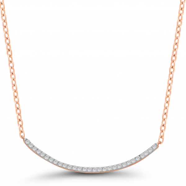 rose gold solitaire diamond necklace