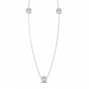 white gold solitaire necklace