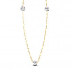 yellow gold solitaire necklace