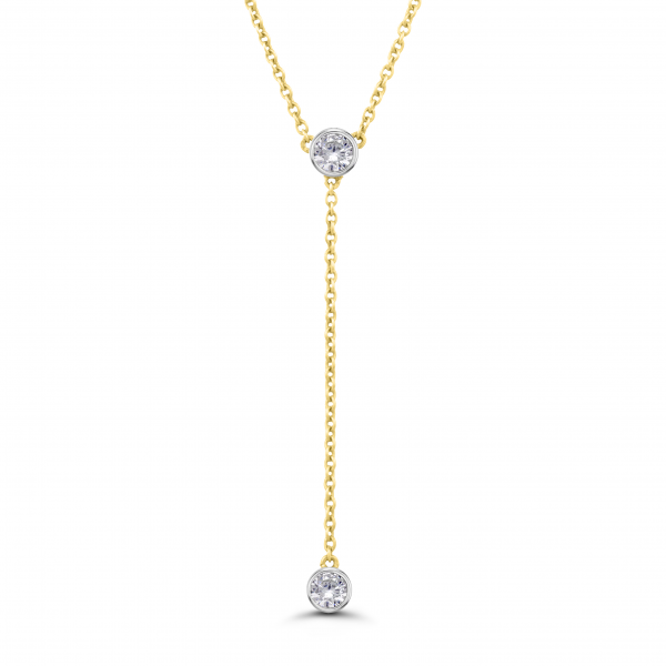 yellow gold lariat necklace