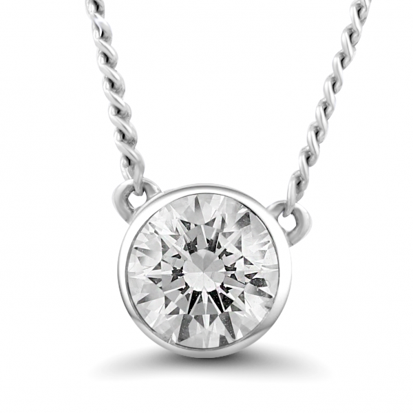 white gold stud diamond necklace