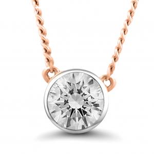 rose gold stud diamond necklace