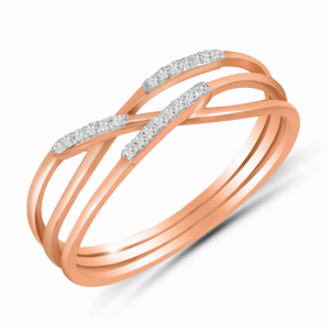 rose gold 3 layer ring