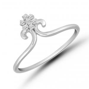white gold flower ring