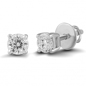 white gold solitaire earrings