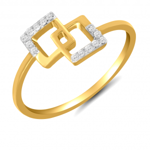 yellow gold cube ring