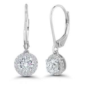 white gold dangling diamond earrings