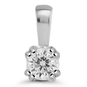 white gold solitaire pendant