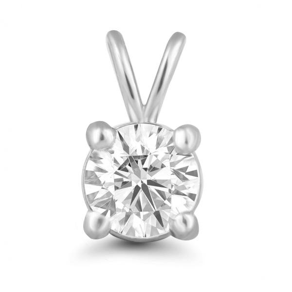 white gold solitaire pendant design