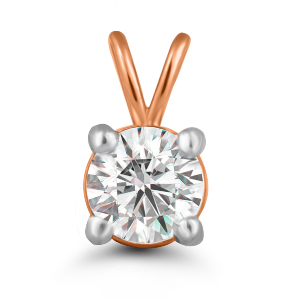 rose gold solitaire pendant design