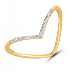 yellow gold stylish ring