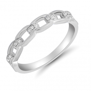 white gold chain ring