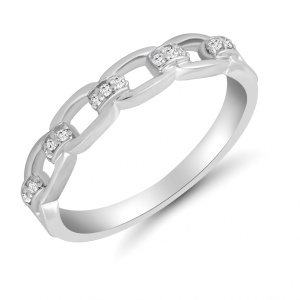 white gold chain ring