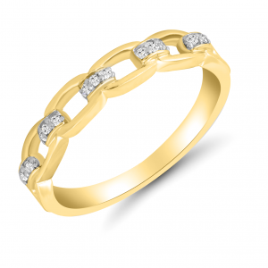yellow gold chain ring