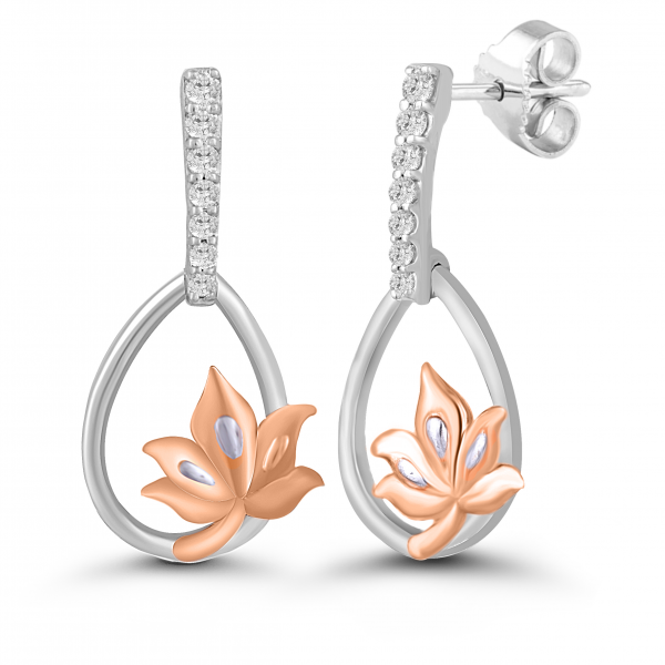 rose gold dangling earrings