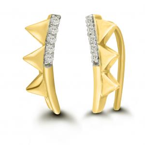 yellow gold pyramid earrings