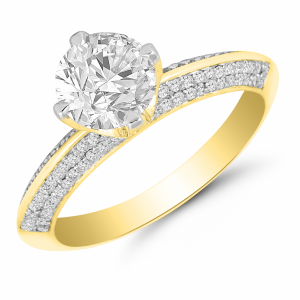 yellow gold solitaire diamond ring