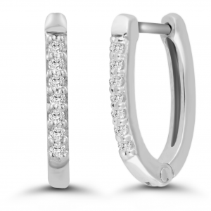 white gold classic hoop earrings