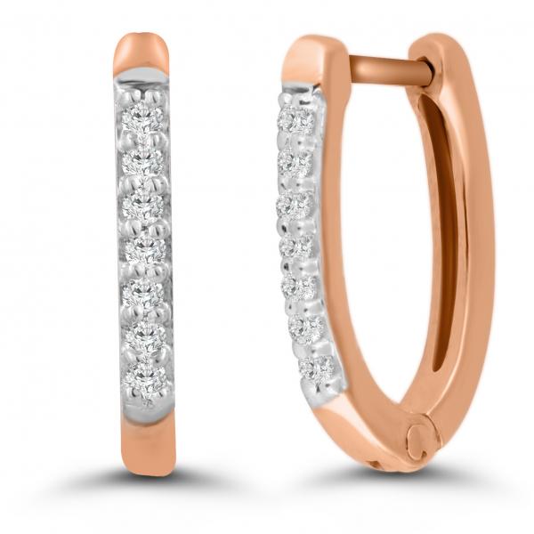 rose gold classic hoop earrings