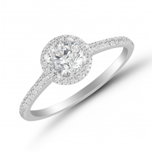 white gold solitaire ring for her