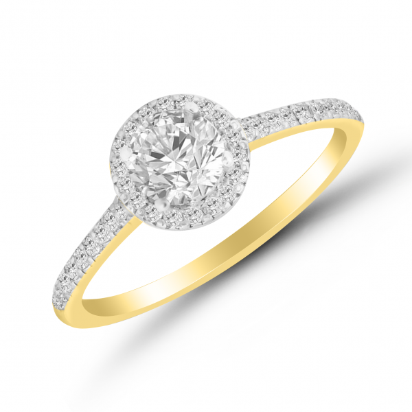 yellow gold solitaire ring for her