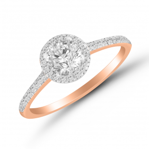 rose gold solitaire ring for her
