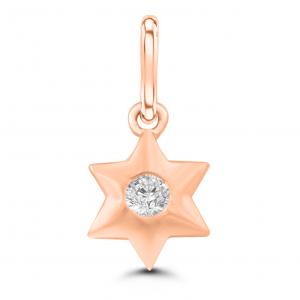 rose gold charm pendant