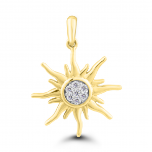 yellow gold sun pendant