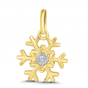yellow gold snowflake pendant
