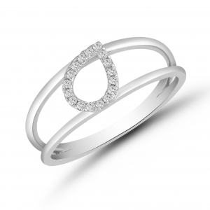 white gold fashionable ring