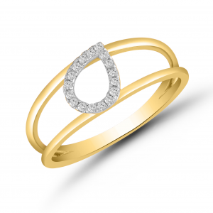 yellow gold fashionable ring