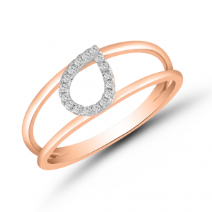rose gold fashionable ring