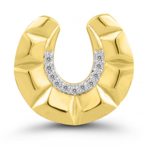 yellow gold crescent pendant
