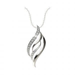 White gold poetic pendant