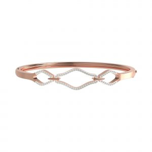 rose gold Chained Bangle