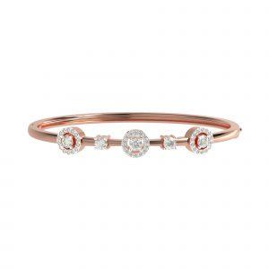 rose gold constellation bangle