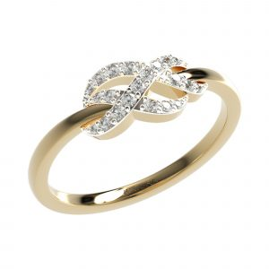 yellow gold double infinity diamond ring