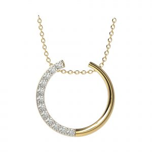 yellow gold designer horseshoe pendant